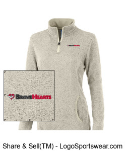 Charles River Women's Soft Heathered Fleece Pullover Design Zoom