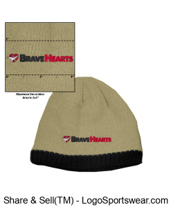 Knit Beanie Cap with Fleece Ear Lining Design Zoom
