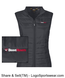 Ladies Prevail Packable Puffer Vest Design Zoom