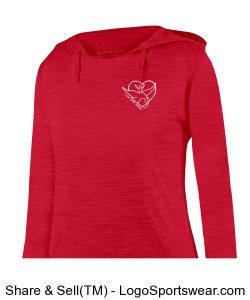 Augusta Ladies Shadow Tonal Heather Hoodie Design Zoom