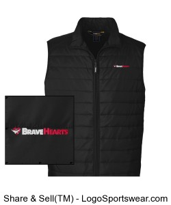 Mens Prevail Packable Puffer Vest Design Zoom