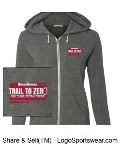 Alternative  Ladies Adrian Eco-Fleece Full-Zip Hoodie Design Zoom